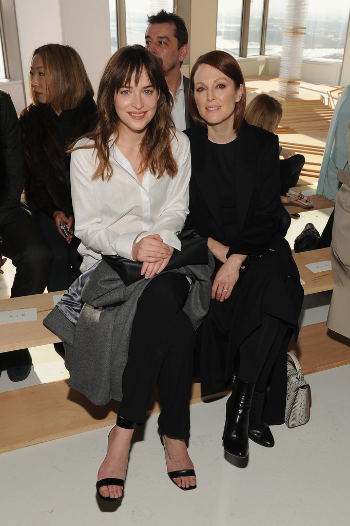 Dakota-Johnson-Julianne-Moore-sat-front-row-Boss-Women